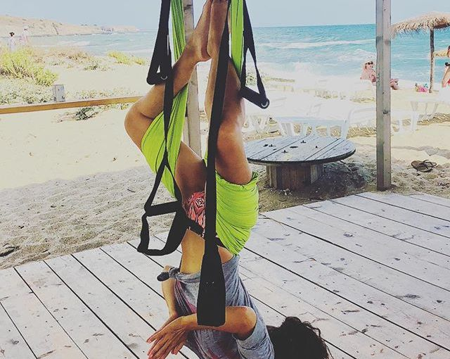 Yoga on the beach. Extra points for fighting gravity. I loved it. Might actually finally pick this up (like all my friends say I should). Thanks for the pic, baby sis. #Bulgaria #Sinemorec #yoga #acroyoga