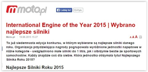 International Engine of the Year 2015 | Wybrano najlepsze silniki