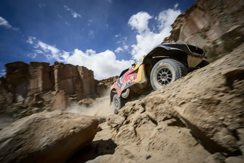 Carlos Sainz (ESP) of Team Peugeot-Total races during stage 04 of Rally Dakar 2016 around Jujuy, Argentina on January 6, 2016 // Marcelo Maragni/Red Bull Content Pool // P-20160106-00142 // Usage for editorial use only // Please go to www.redbullcontentpool.com for further information. //