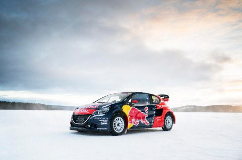 The car of Sebastien Loeb  in Åre, Sweden on March 16, 2016.