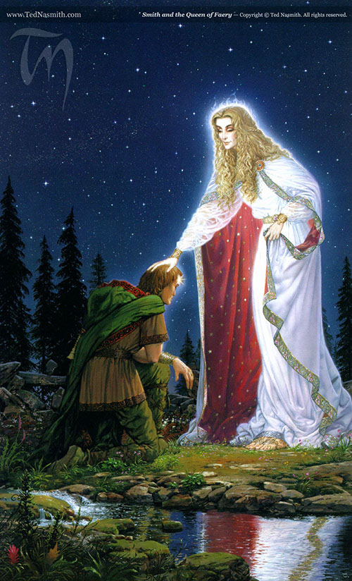 "Smith and the Queen of Faery, by Ted Nasmith (from ""Smith of Wootton Major"")"