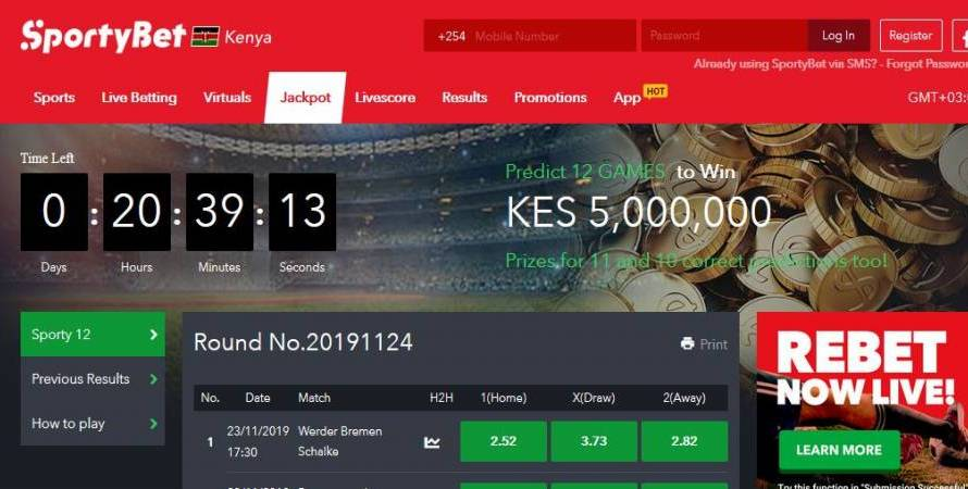 29th & 1st February,March 2020 SportyBet Jackpot Predictions