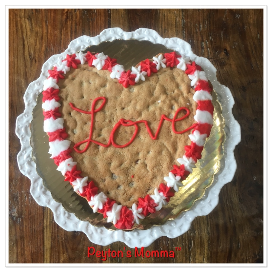Crumbolicious Chocolate Chip Heart Shaped Cookie