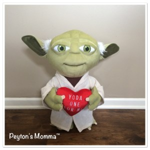 Yoda 21 inch Valentine's Day Plush by Gemmy