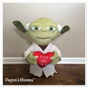 Yoda 21 inch Valentine's Day Plush by Gemmy