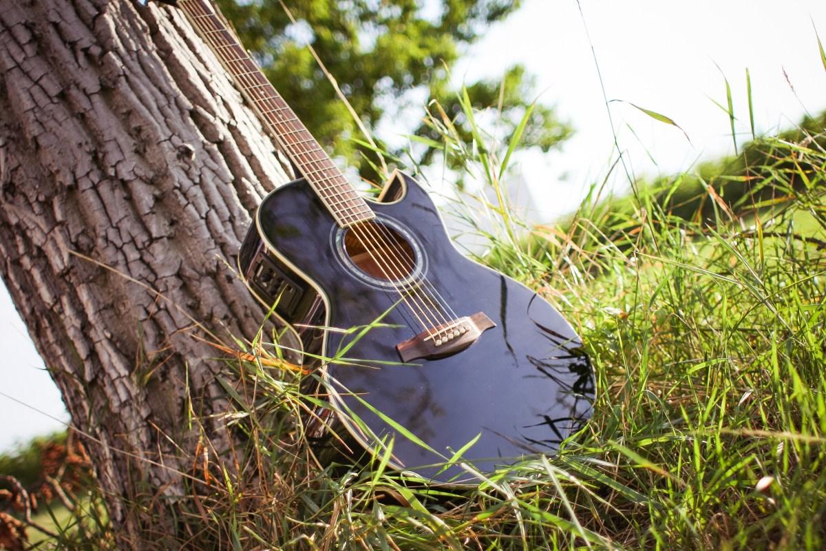 guitar-in-sunny-grass-picjumbo-com
