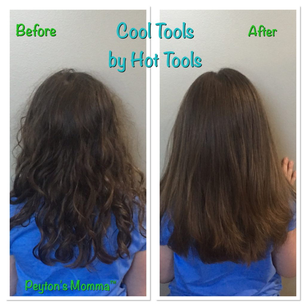 Before and After with Cool Tools Vapor Flat Iron