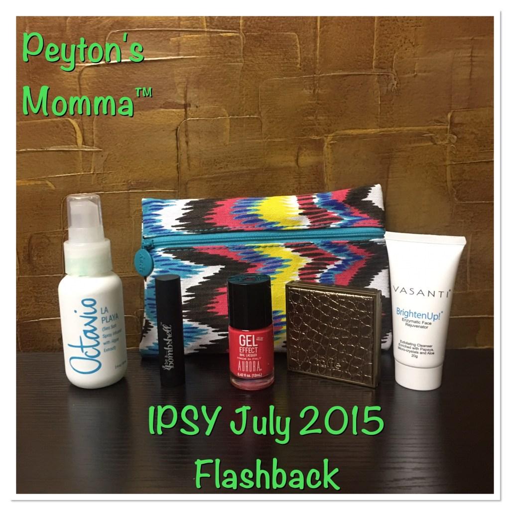 IPSY July 2015 Flashback