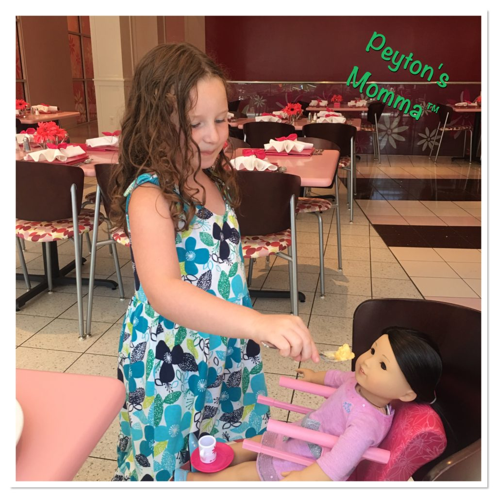 Peyton at the American Girl Bistro
