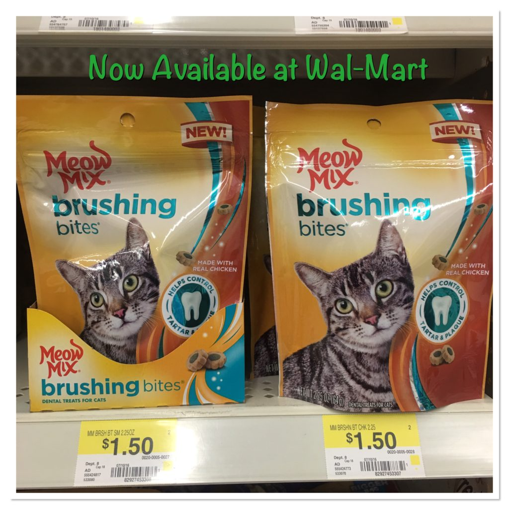 Meow Mix Brushing Bites Chicken Flavor