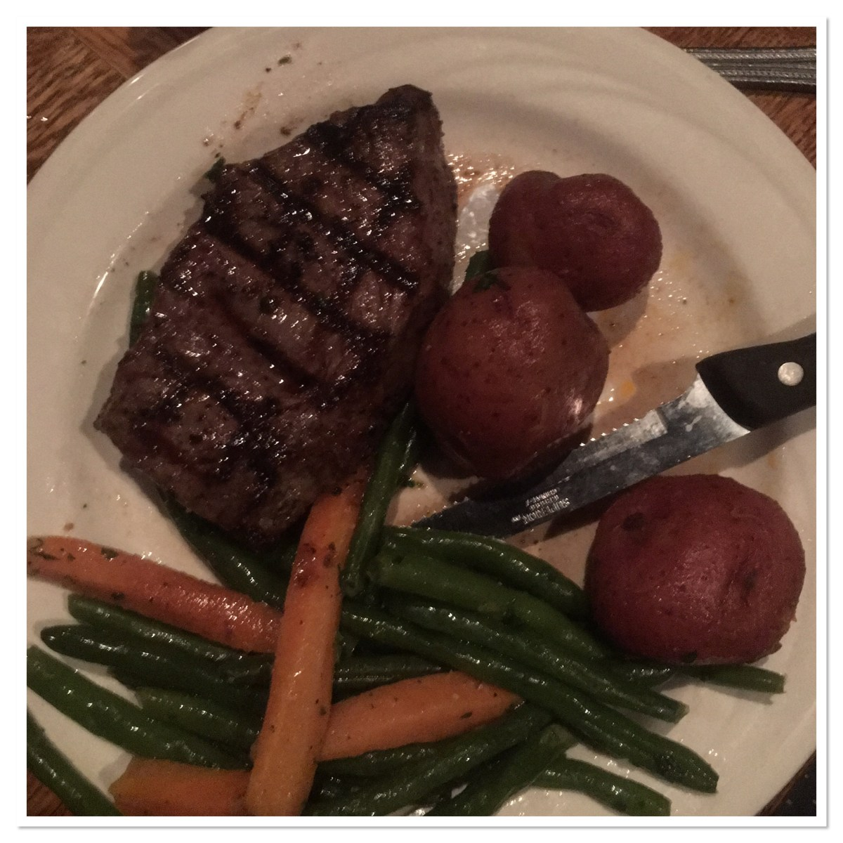 Steak Potatoes and Vegetables