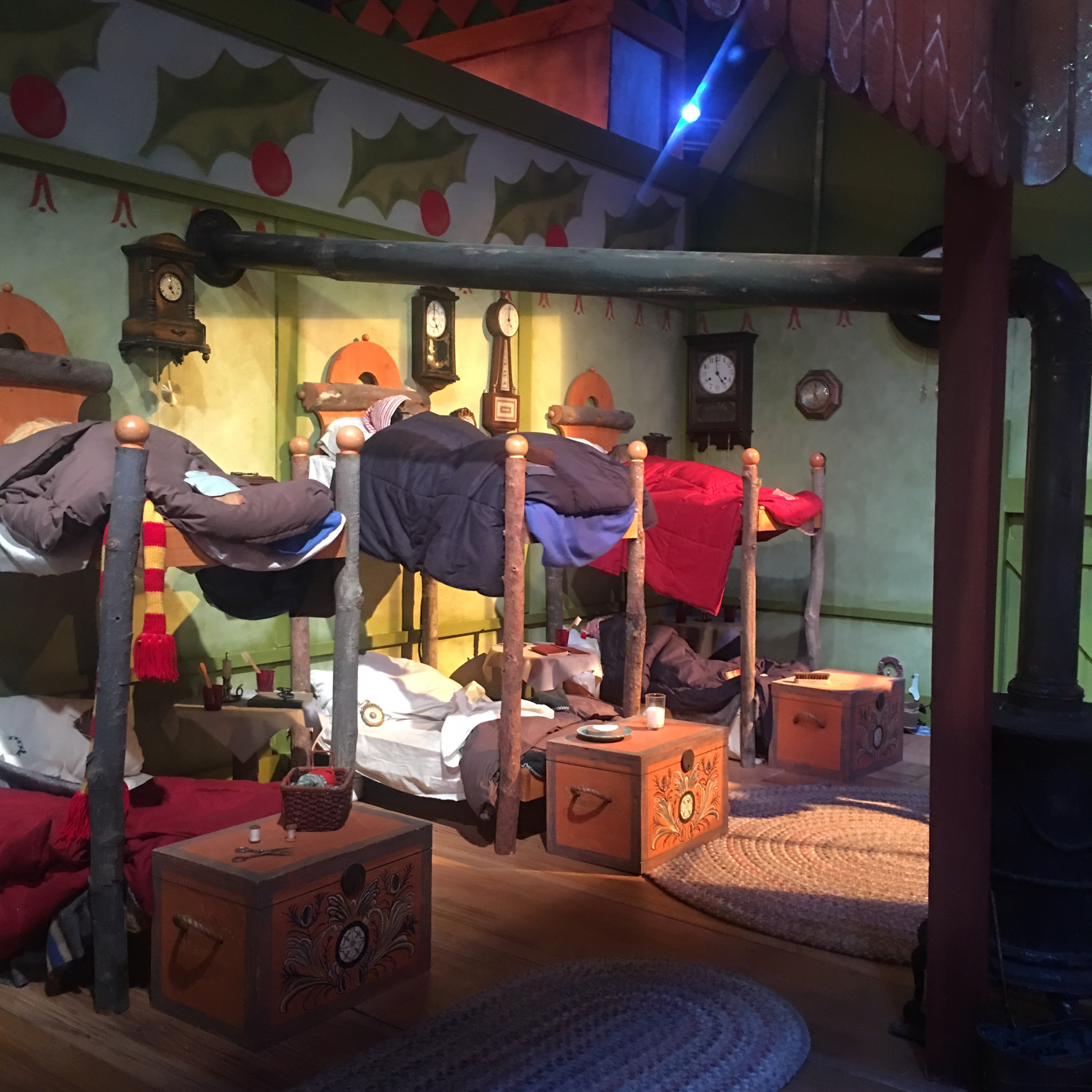 Santaland Elves Sleeping in Bunkbeds