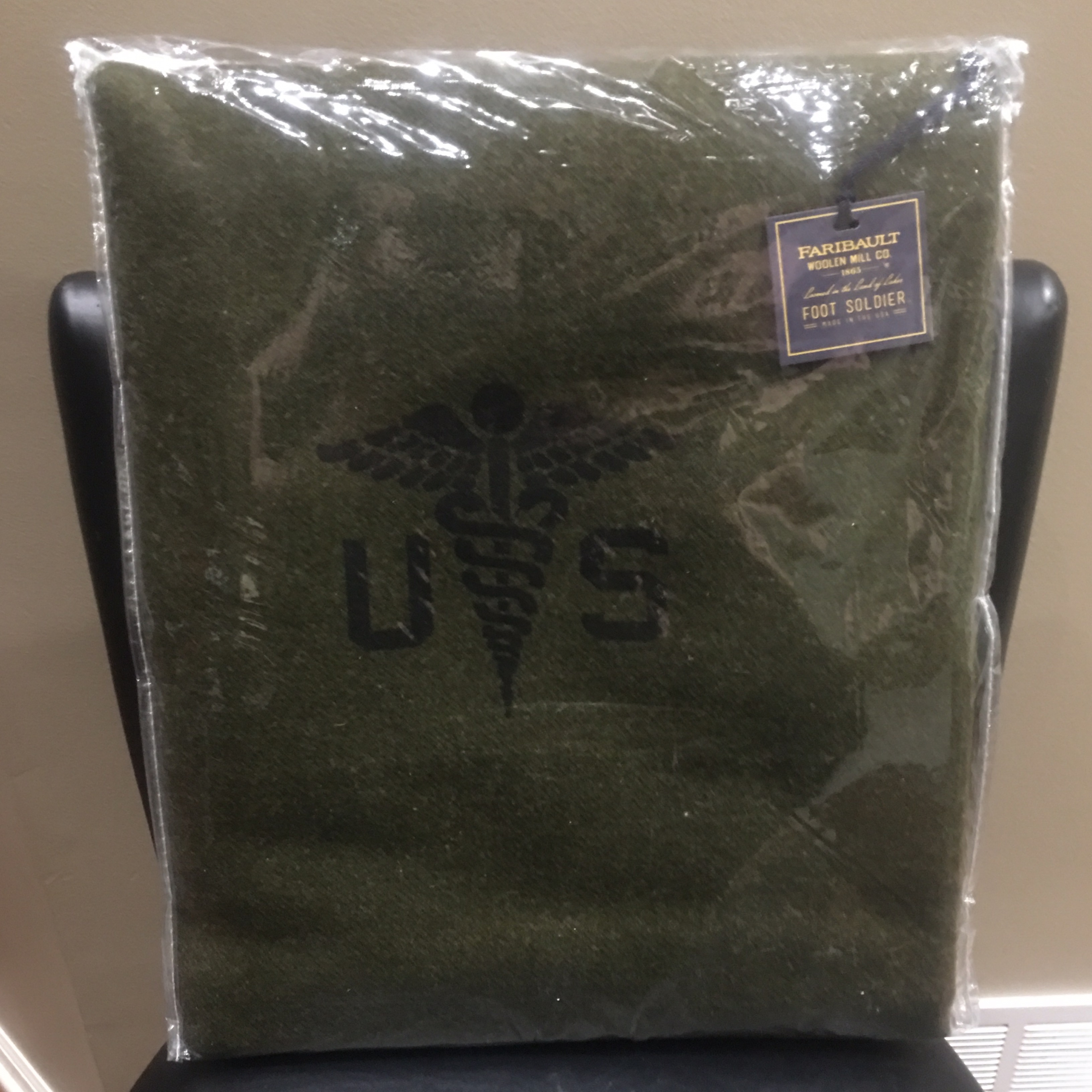 The Grommet Faribault Mill Army Medic Blanket