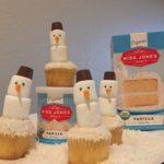 Misses Jones Snowman Cupcakes