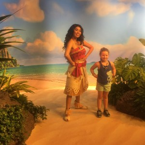 Peyton and Moana at Disney World