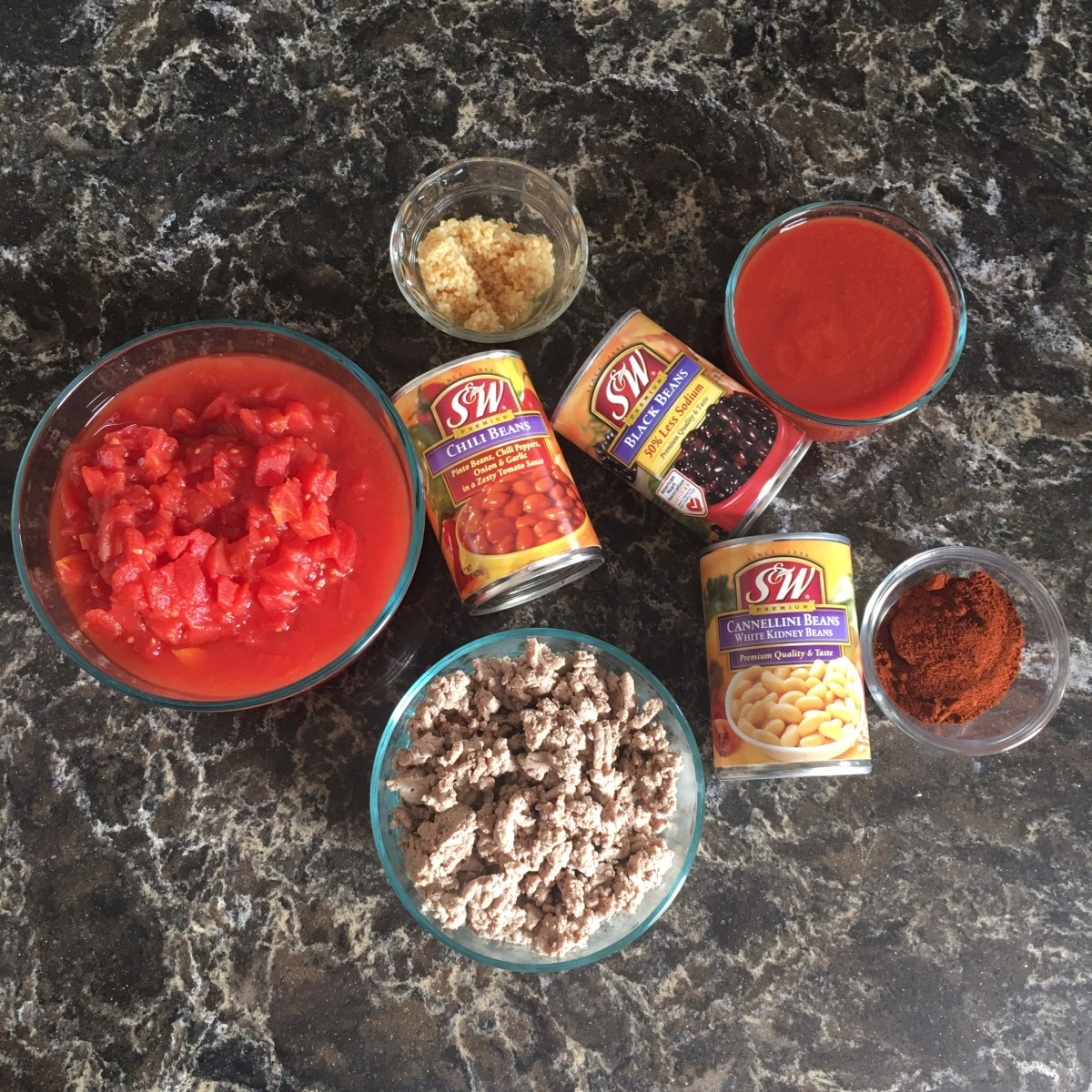 S&W Beans Chili Ingredients