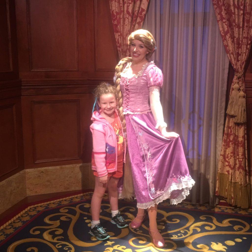 Peyton with Rapunzel