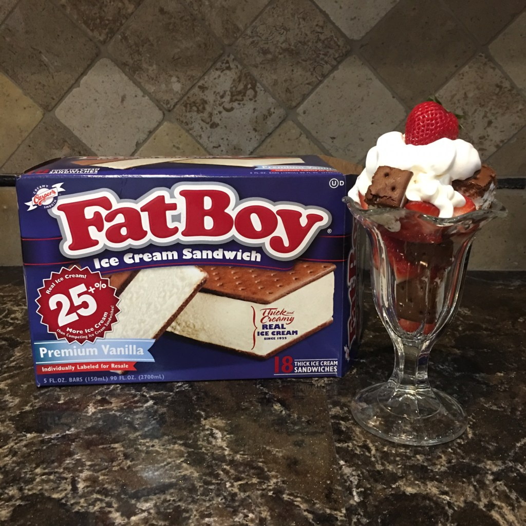 FatBoy Ice Cream Sandwich Sundae