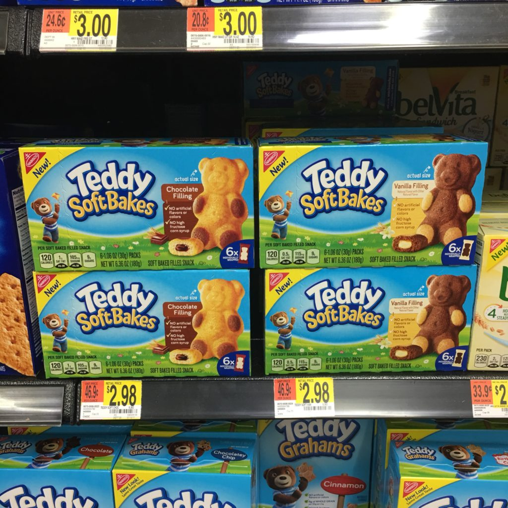 TEDDY SOFT BAKED Filed Snacks by Nabisco