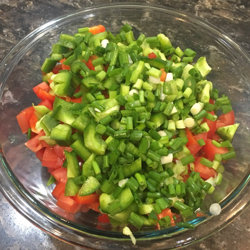 Chopped Vegetable for Salsa