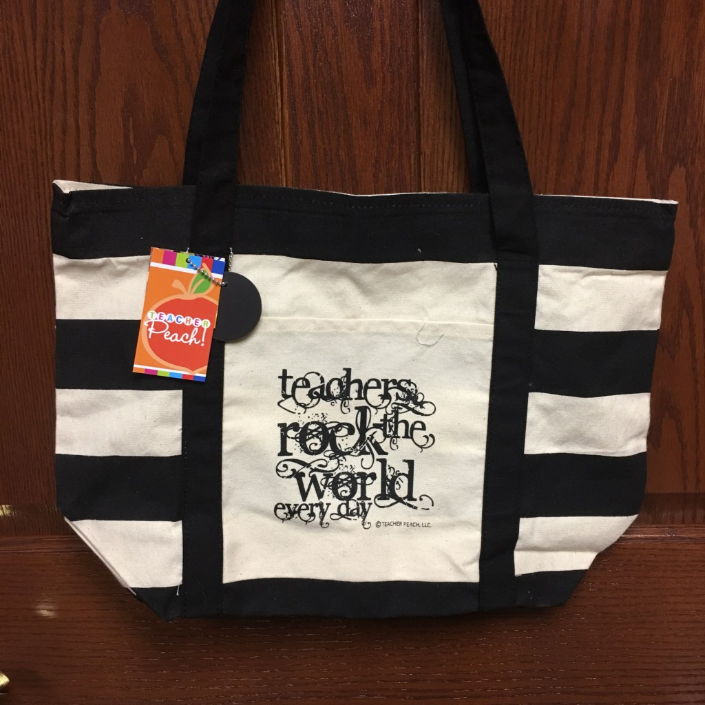 Teacher Peach Teachers Rock the World Tote
