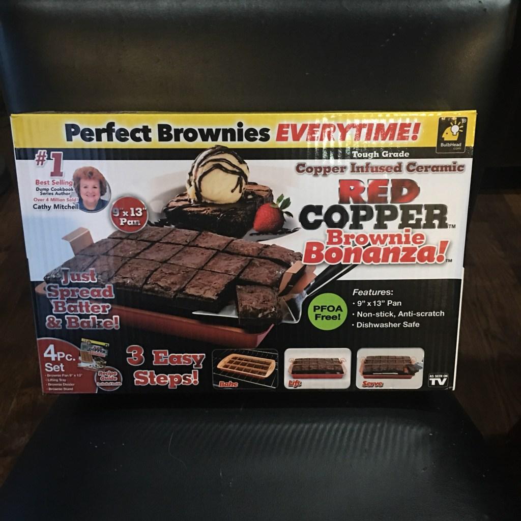 Red Copper Brownie Pan
