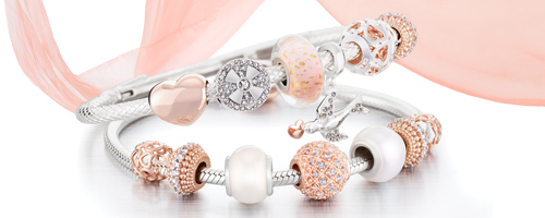Chamilia Blush Bracelet and Charms