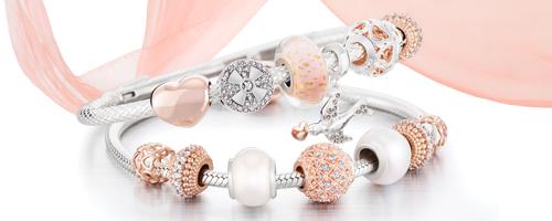 Chamilia Blush Bracelet and Charms