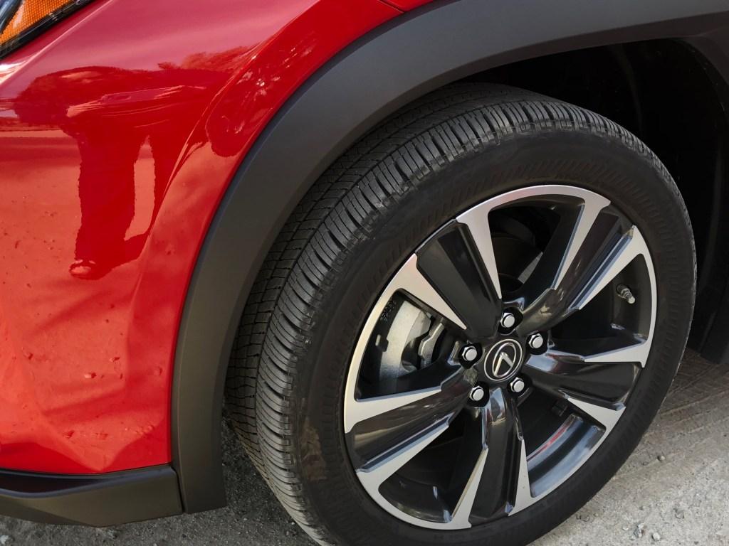 closeup of tire