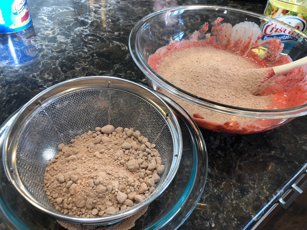 Red Velvet Cake mix process