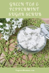 Green Tea & Peppermint Sugar Scrub