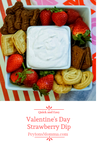 Valentine's Day Strawberry Dip