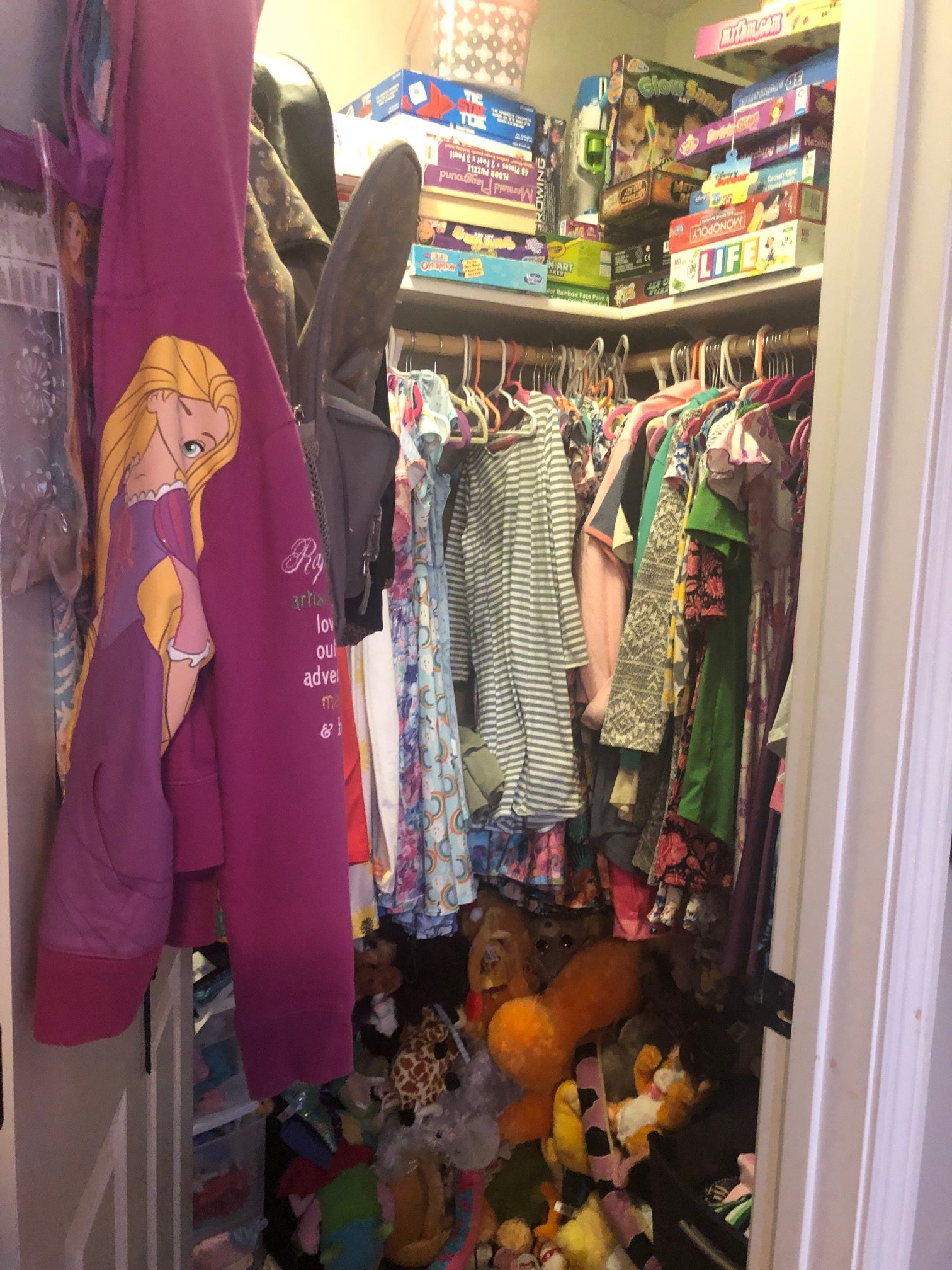 Kids Messy Closet Before Picture