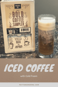Iced Coffee with Cold Foam and Two Rivers Bold Sampler Pack