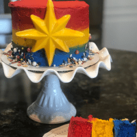 Create a Captain Marvel Cake