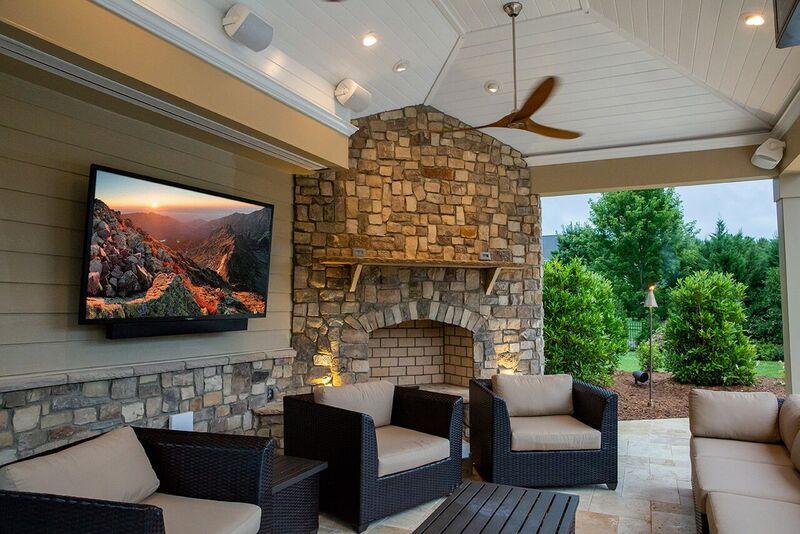 SunBriteTV displayed on a porch