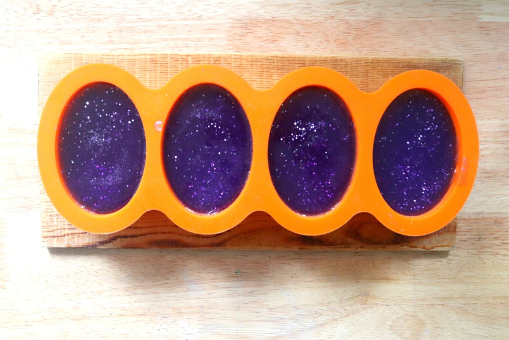 DIY Glittery Mermaid Soap