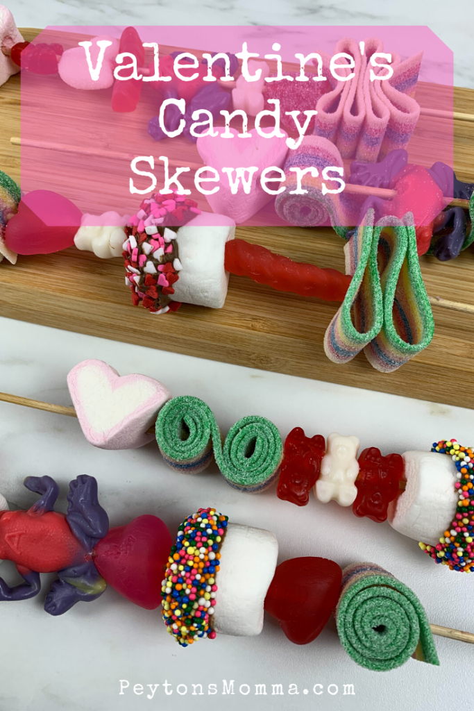 Valentine's Candy Skewers