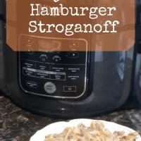 Ninja Foodi Hamburger Stroganoff