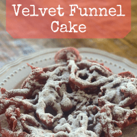 State Fair Red Velvet Funnel Cake