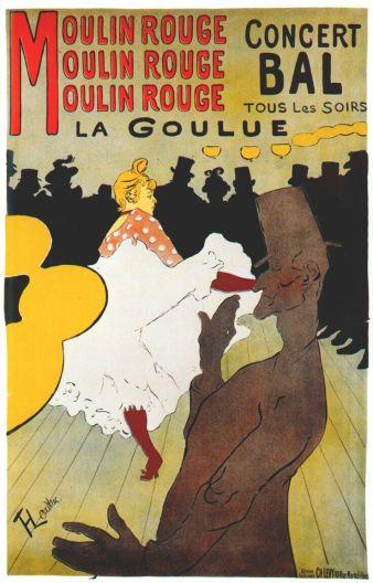 Moulin Rouge: La Goulue, Toulouse Lautrec, 1891