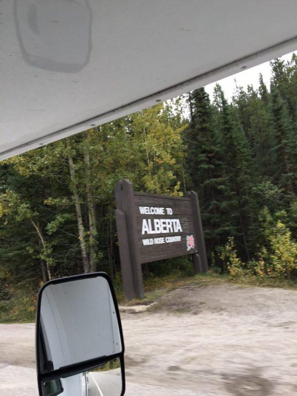 Chegando em Alberta, uma das províncias mais belas do Canadá.