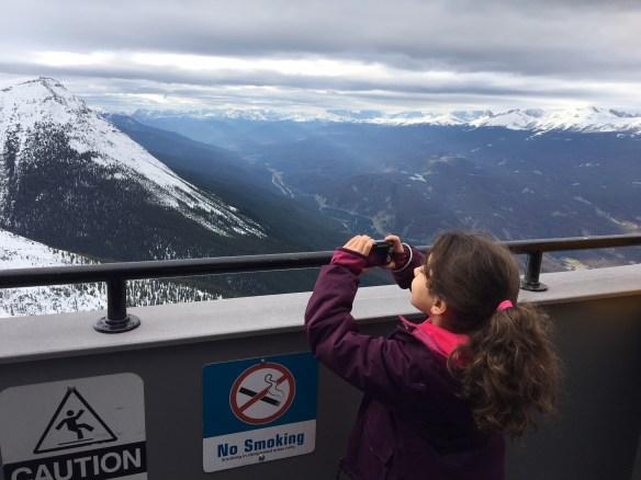 No topo da montanha, Jasper SkyTram.