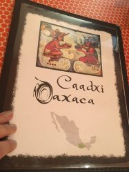 Cardápio do restaurante Caadxi Oaxaca