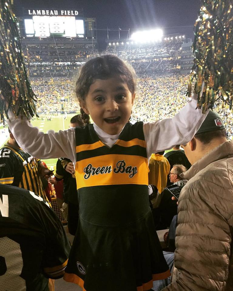 A Bela, de cheerleader dos Green Bay Packers, no Lambeau Field