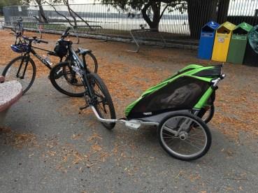 Bicicletas escolhidas + bike trailer