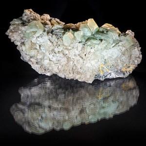 green calcite specimen