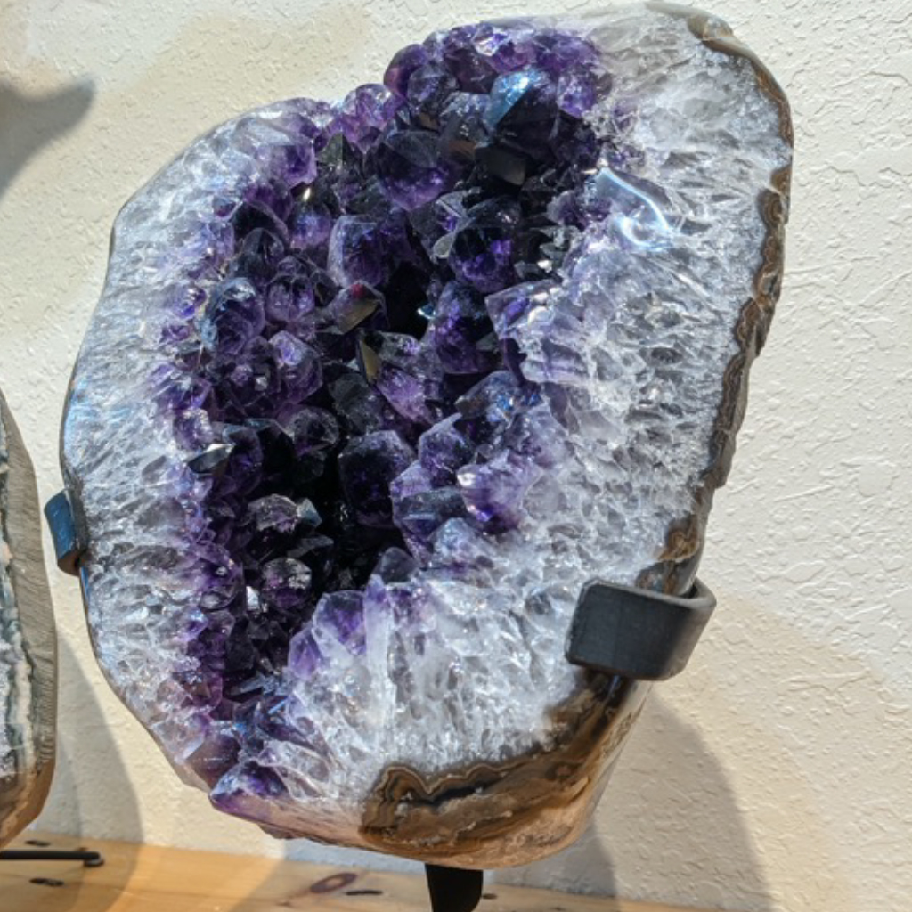 Amethyst Geode on Stand