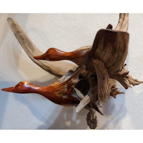 flying lessons driftwood carving