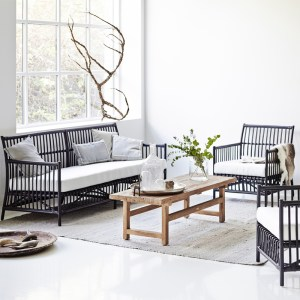 Caroline Sofa & Armchair Black